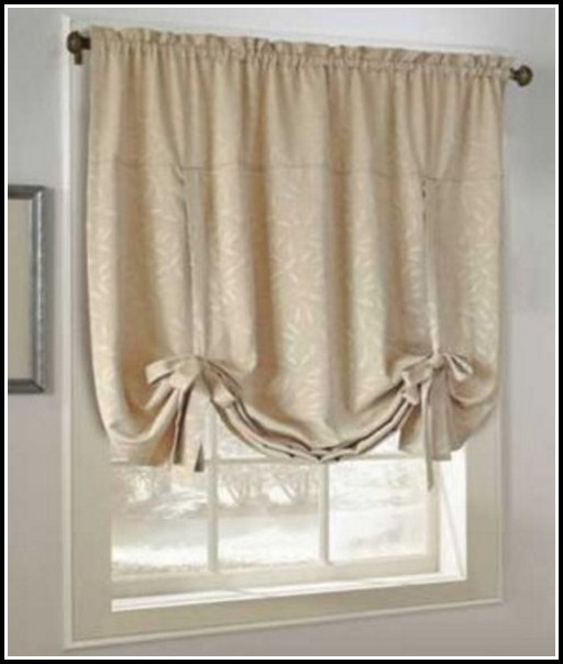 Tie Up Valance Curtains