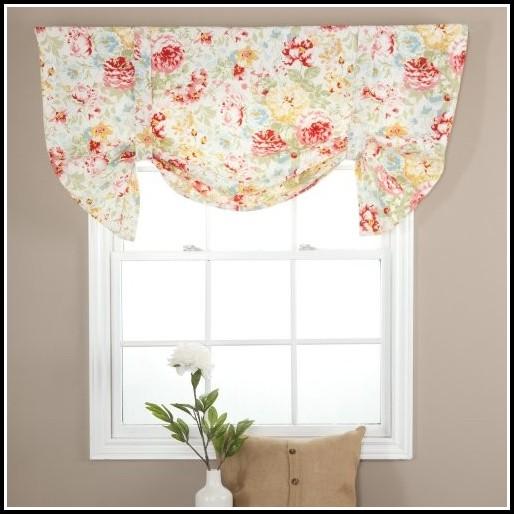 Tie Up Valance Kitchen Curtains