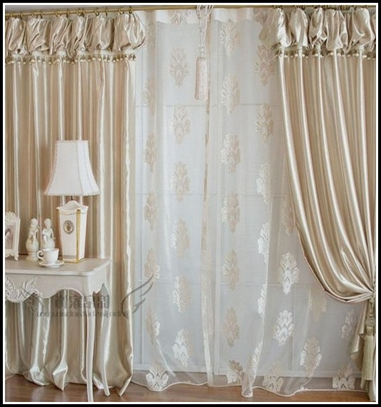 White And Gold Sheer Curtains