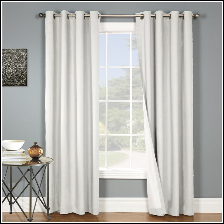 White Blackout Grommet Curtain Panels