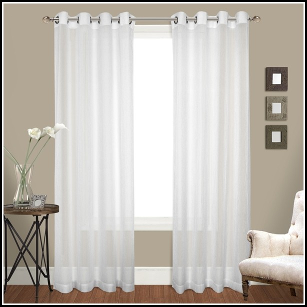 White Tab Top Curtains 84