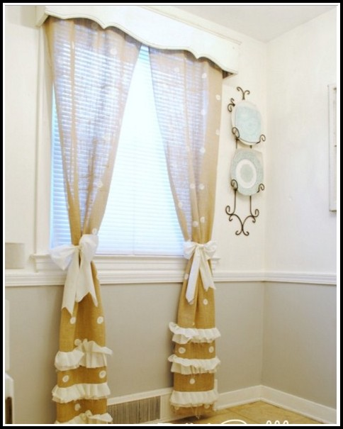 White Walls Gold Curtains
