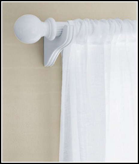 Wooden Double Curtain Rod Brackets