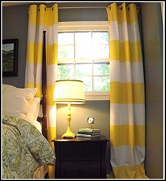 Yellow And White Curtains For Nursery