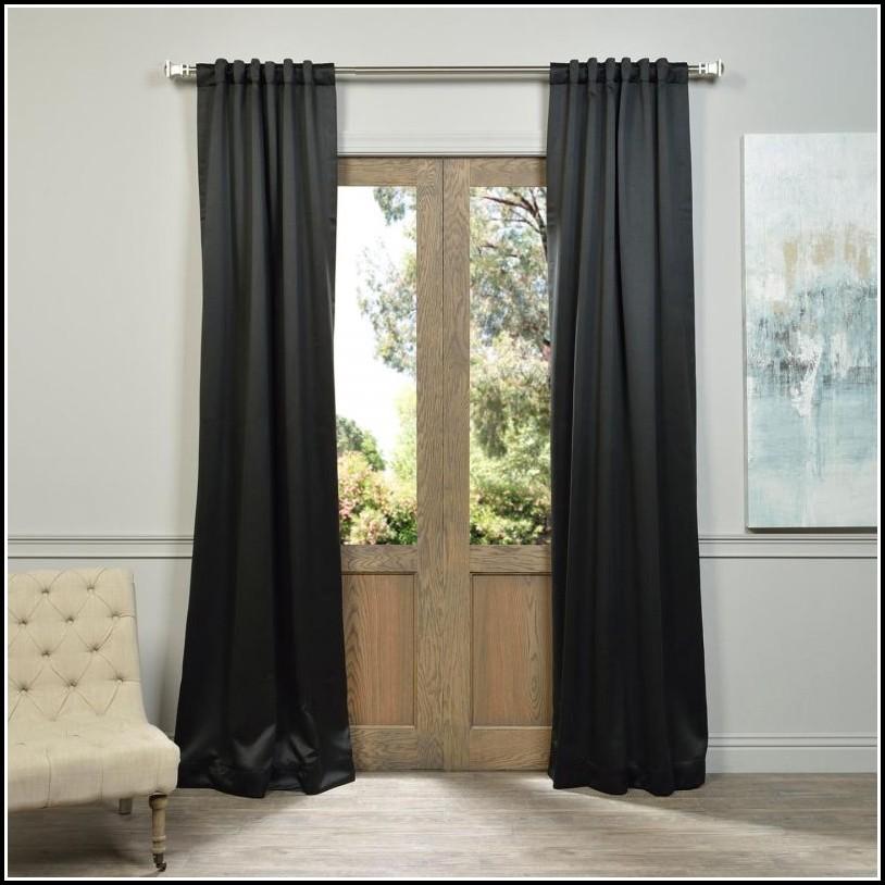 108 Inch Black Blackout Curtains