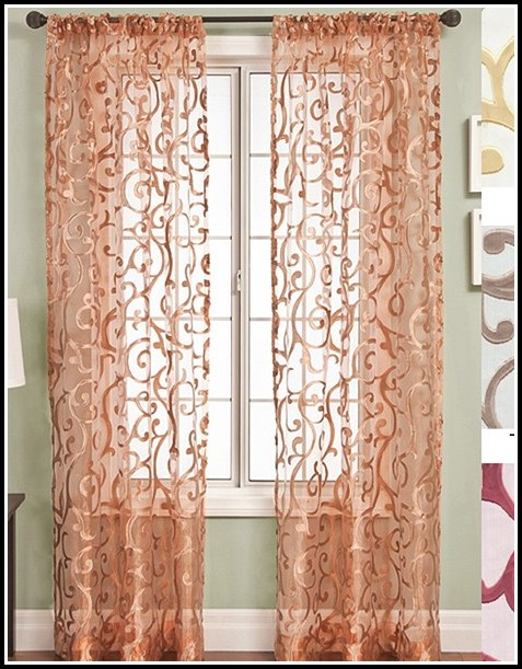 96 Inch Pink Curtain Panels