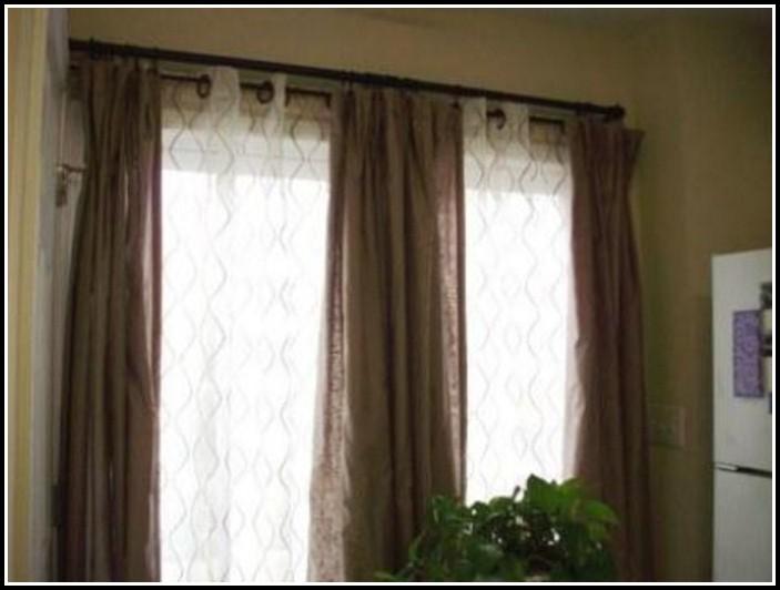 Bay Window 1 Inch Diameter Double Curtain Rod Set