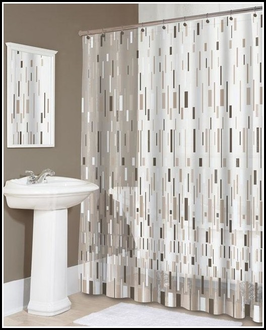 Beige And Brown Shower Curtains