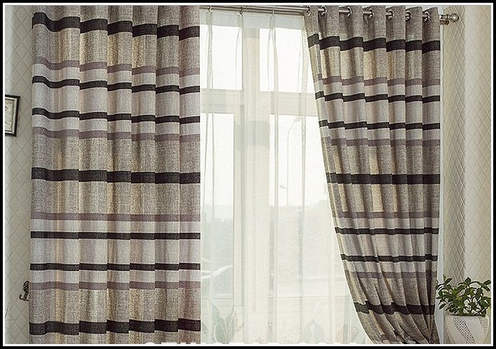 Black And Brown Striped Curtains