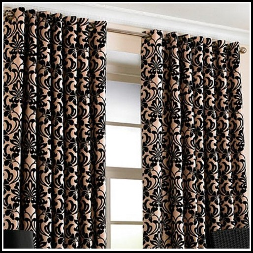 Black And Gold Curtains With Stripes