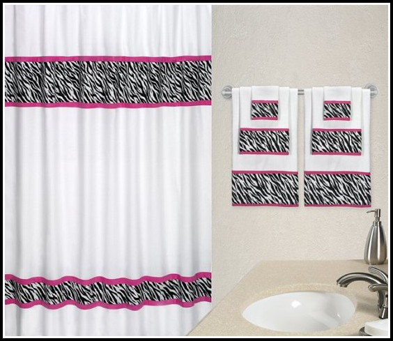 Black And Pink Zebra Curtains