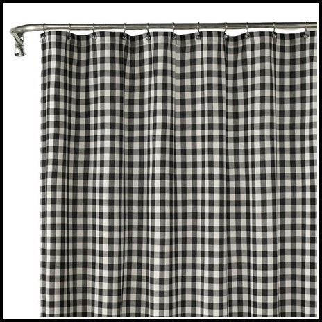 Black And White Checkered Curtains