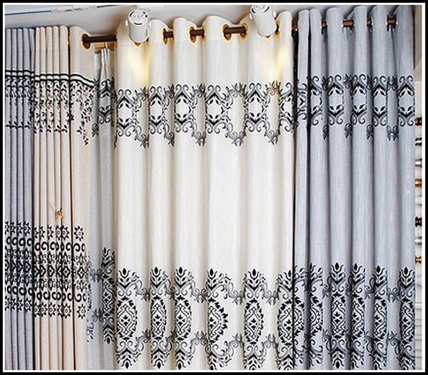 Black And White Diamond Pattern Curtains