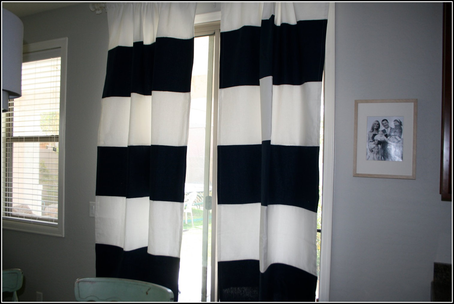 Black And White Vertical Striped Curtain Panels