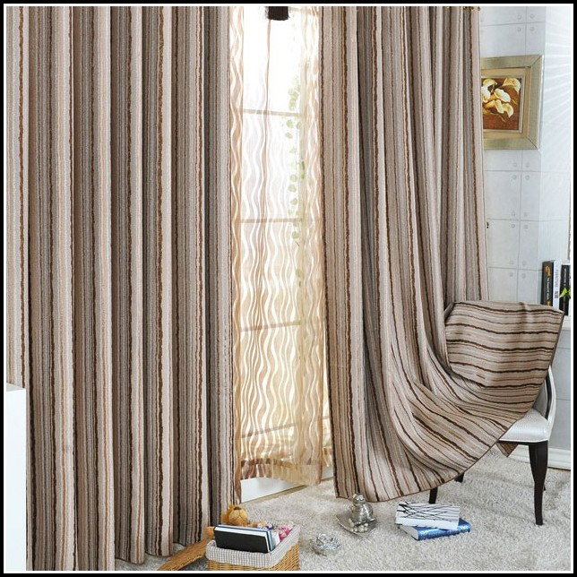 Black Cream And Brown Curtains