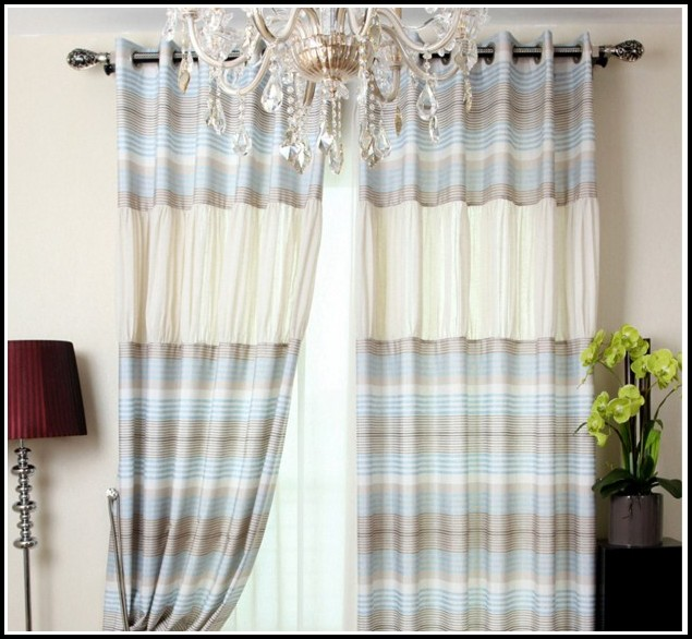 Blue And Beige Shower Curtains