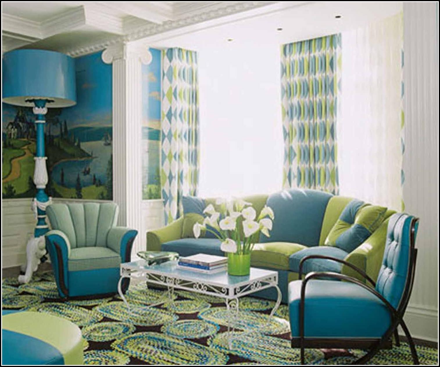 Blue And Burnt Orange Curtains