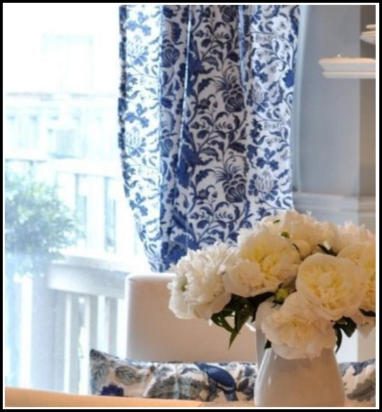 Blue And White Curtains Walmart