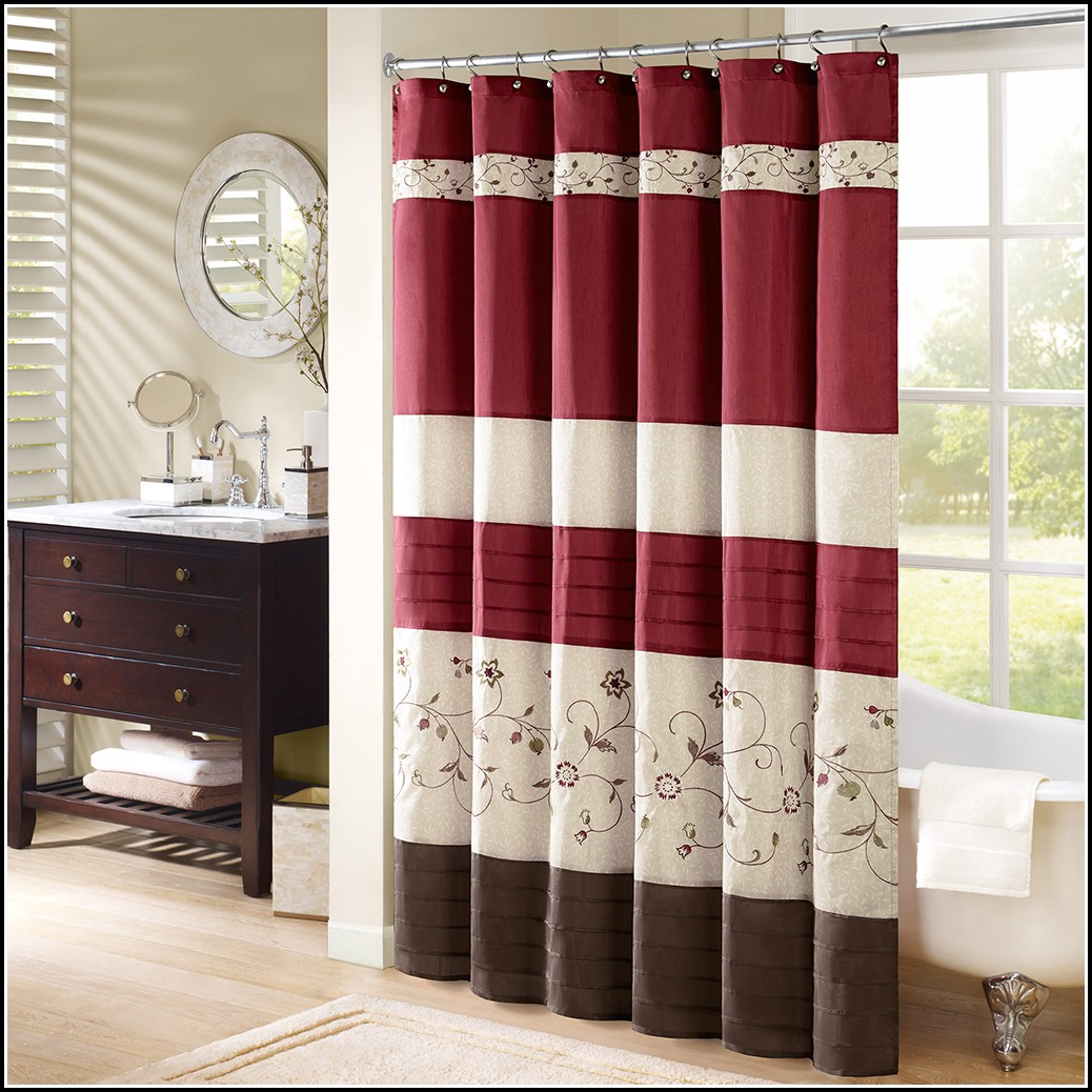Blue Brown And Red Curtains