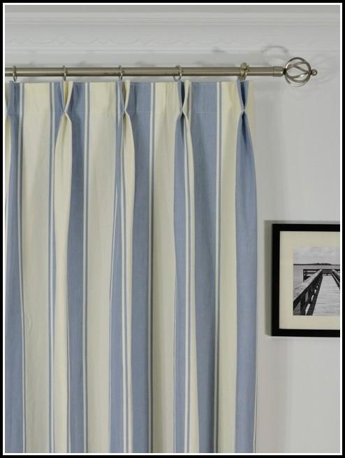 Blue Or White Striped Nautical Curtains