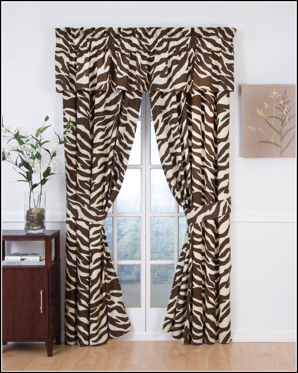 Brown And Black Zebra Curtains