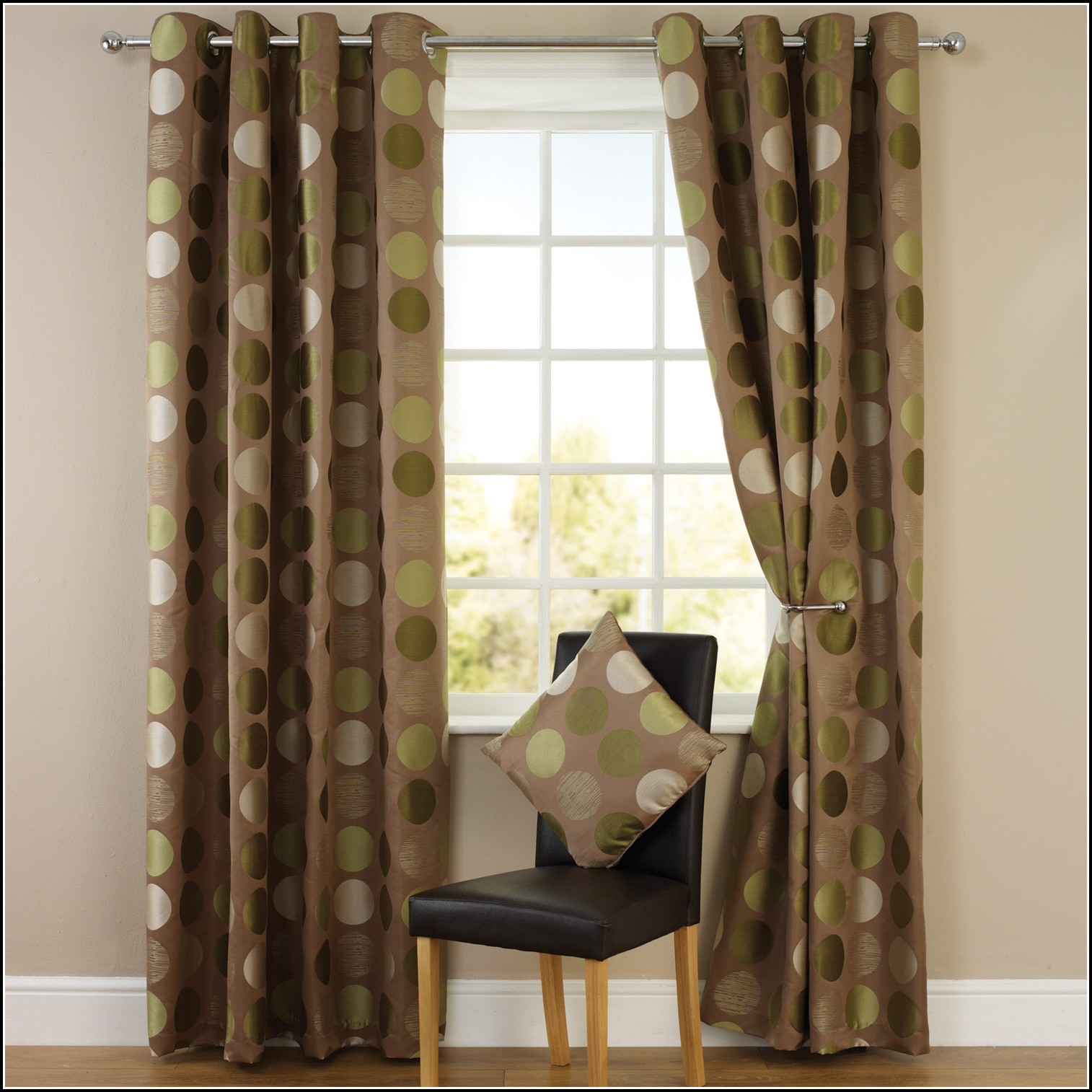 Brown And Lime Green Curtains