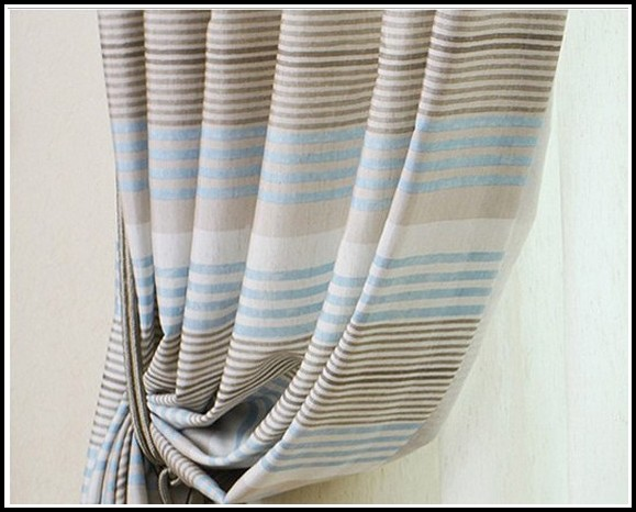 Brown Beige And Blue Curtains