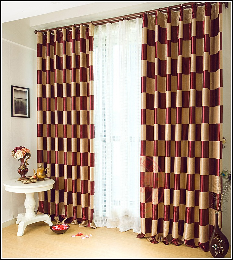 Burgundy And Gold Shower Curtains