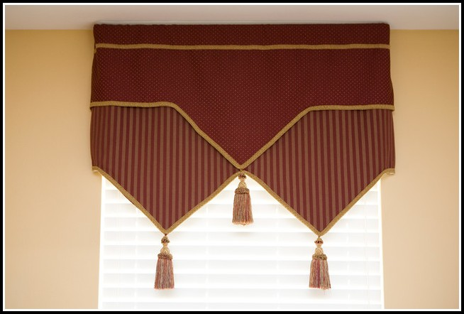 Burgundy And Gold Striped Curtains