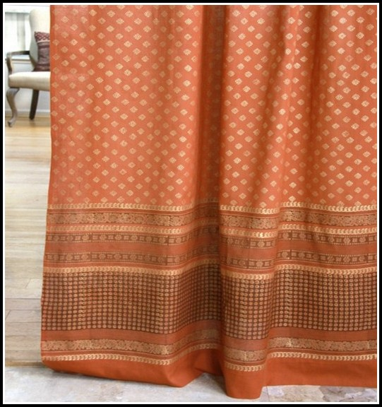 Burnt Orange And Gray Curtains