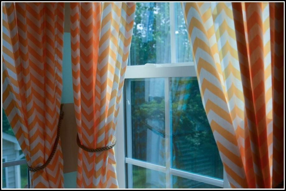 Burnt Orange And Grey Curtains