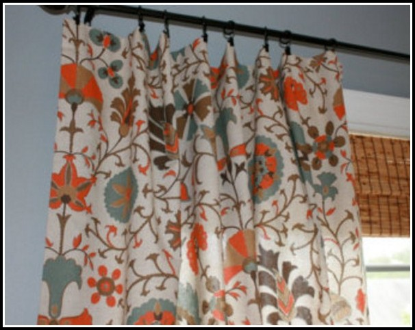 Burnt Orange And Teal Curtains
