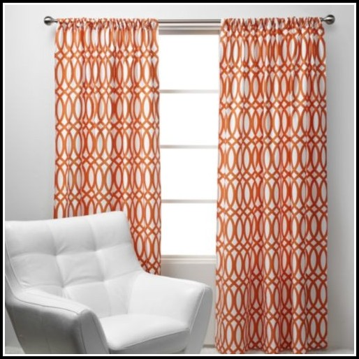 Burnt Orange Sheer Curtain Scarf