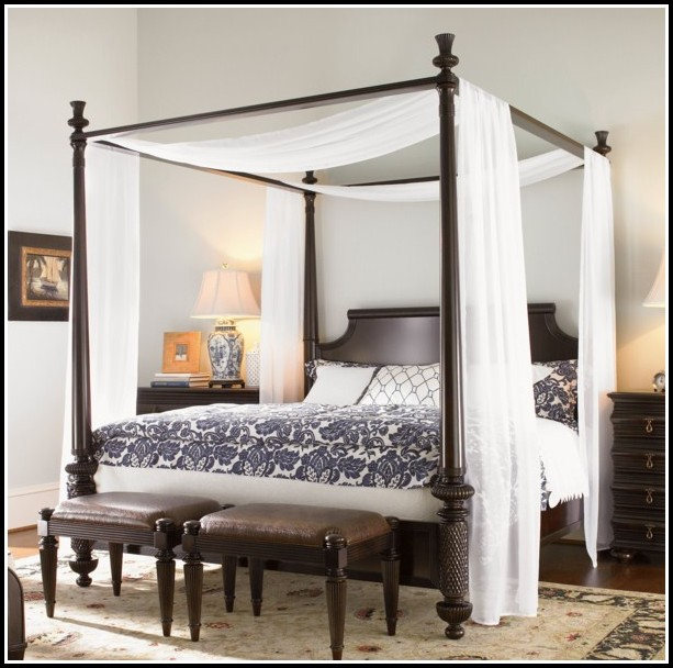 Canopy Curtains For Queen Bed