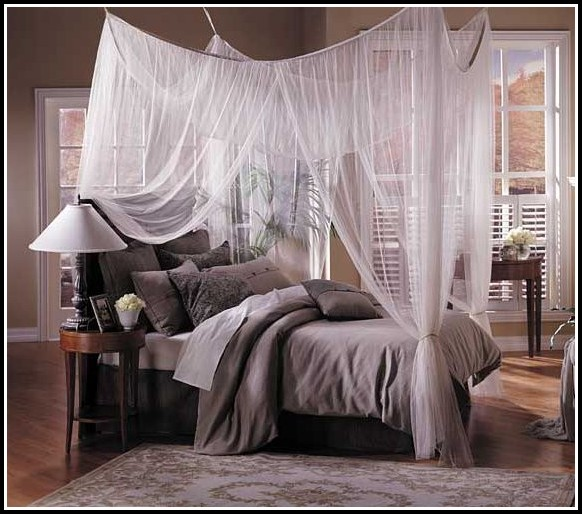 Canopy Drapes For Queen Bed