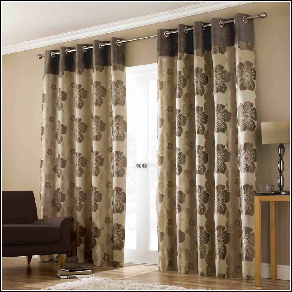 Chocolate Brown And Beige Curtains