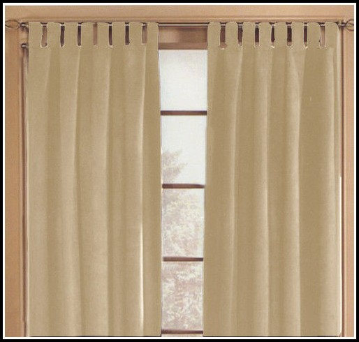 Cotton Tab Top Curtains Natural