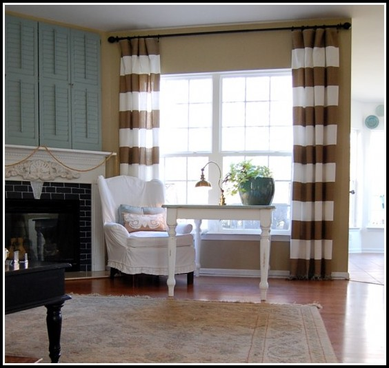Cream Brown And Black Curtains