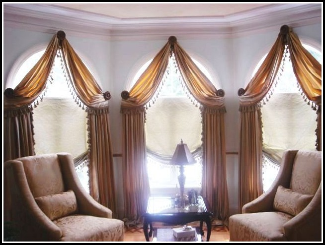 Curved Window Curtain Rod For Bow Window