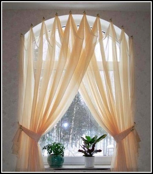 Curved Window Curtain Rods For Arch