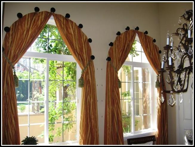 Custom Curved Bay Window Curtain Rod