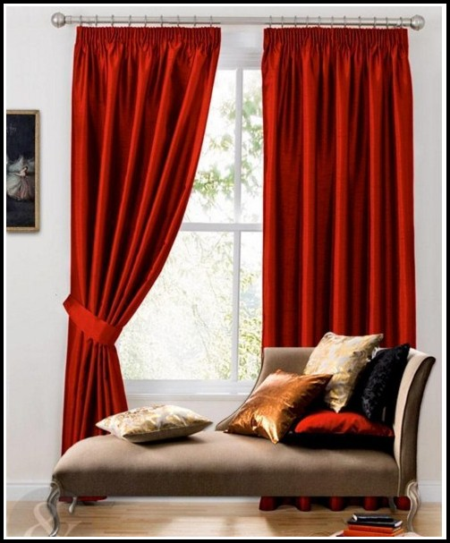 Dark Red Living Room Curtains