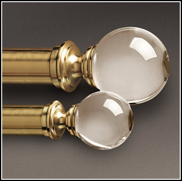 Decorative Curtain Rods With Glass Finials