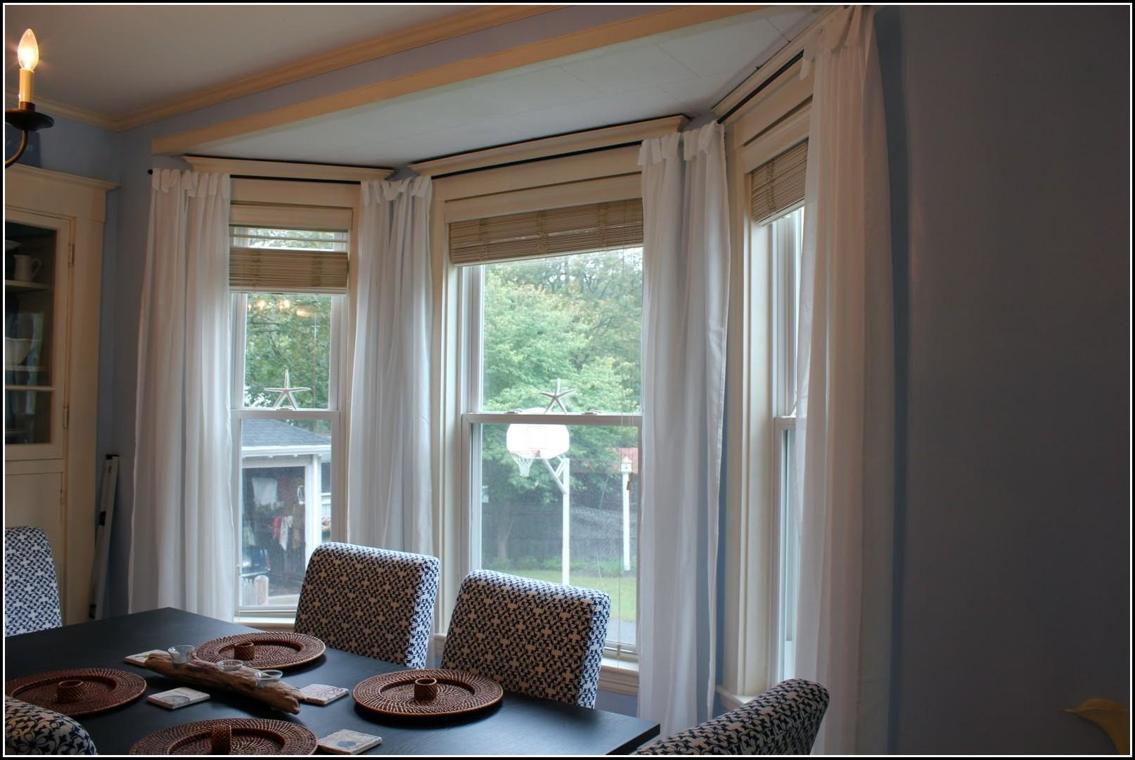 Double Curtain Rod Bay Window