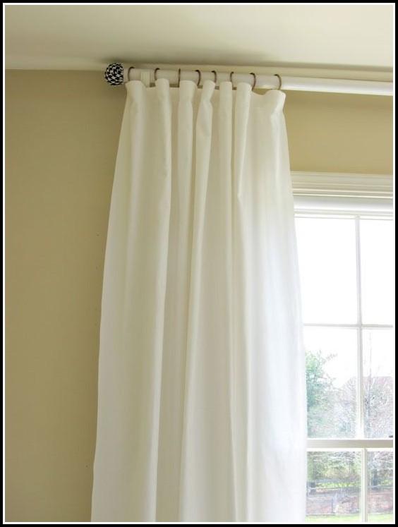 Double Curtain Rod Brackets White