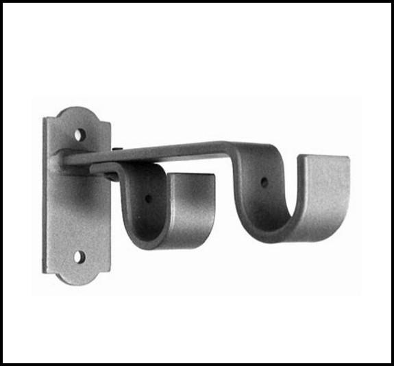 Double Curtain Rod Hardware Brackets
