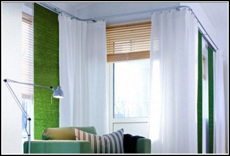 Double Curtain Rods For Corners