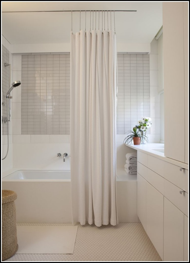 Double Curtain Rods That Hang From Ceiling