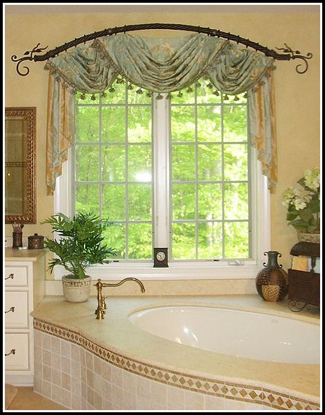 Double Curved Window Curtain Rod