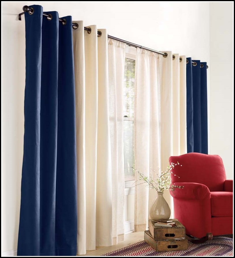 Double Wide Sheer Curtain Panels